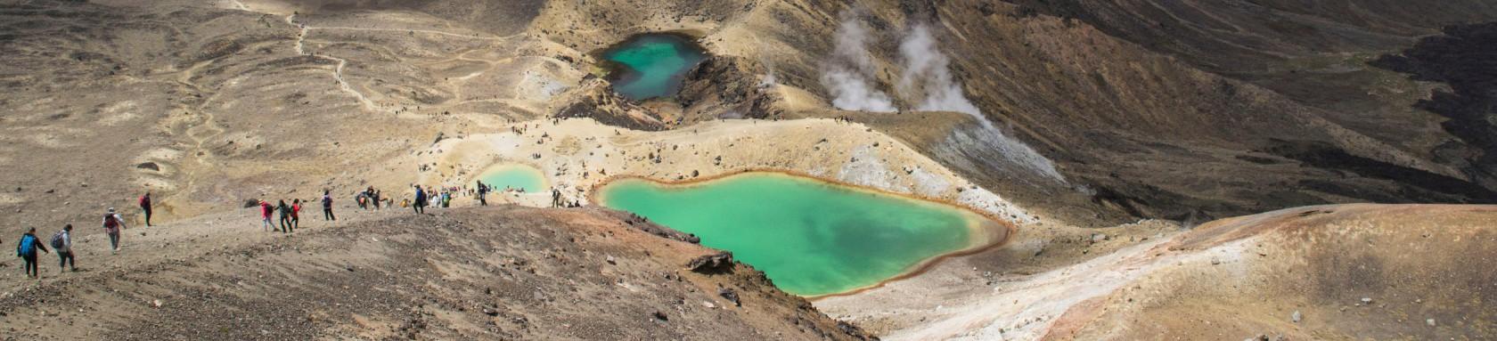 Crater lake water banner image